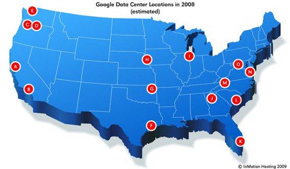 Google Data Center Locations ساخت بزرگترین دیتاسنتر جهان توسط گوگل